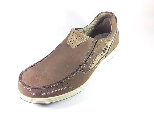 Imac - Mocasines de Piel para hombre Azul marrón 43: Amazon.es: Zapatos y complementos