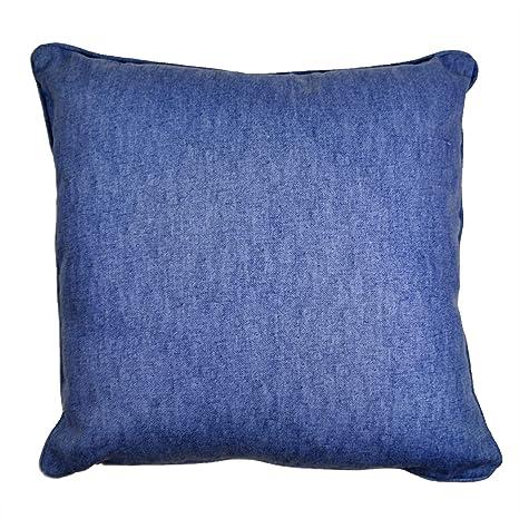Relleno liso azul vaquero 100% algodón ribeteado 17 - 43 cm ...
