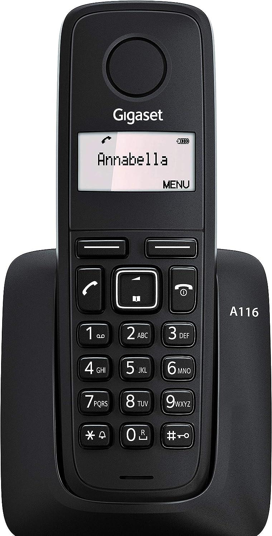 Gigaset A116 - Teléfono Inalámbrico, Agenda 50 Contactos: Amazon.es: Electrónica