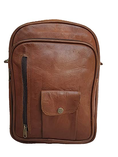 bc8ebda4c1 Image Unavailable. Image not available for. Color  Pranjals House Genuine  Leather College Office Backpack ...