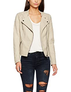 Only Onlsteady Faux Leather Jacket Cc Otw, Chaqueta para Mujer, Rosa (Strawberry Cream Strawberry Cream), 40 (Talla del fabricante: 38)