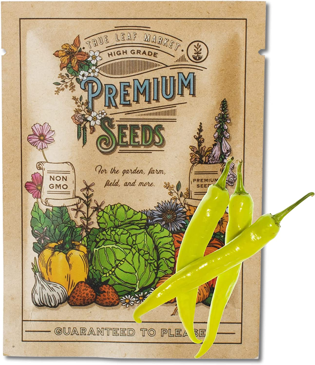Cayenne Pepper Seeds for Planting - Cayenne Golden - 500 mg 90+ Seeds - Home Garden Hot Pepper Seeds - Non-GMO, Heirloom Cayenne Seeds - Sealed in a Beautiful Mylar Package for Extended Shelf Life