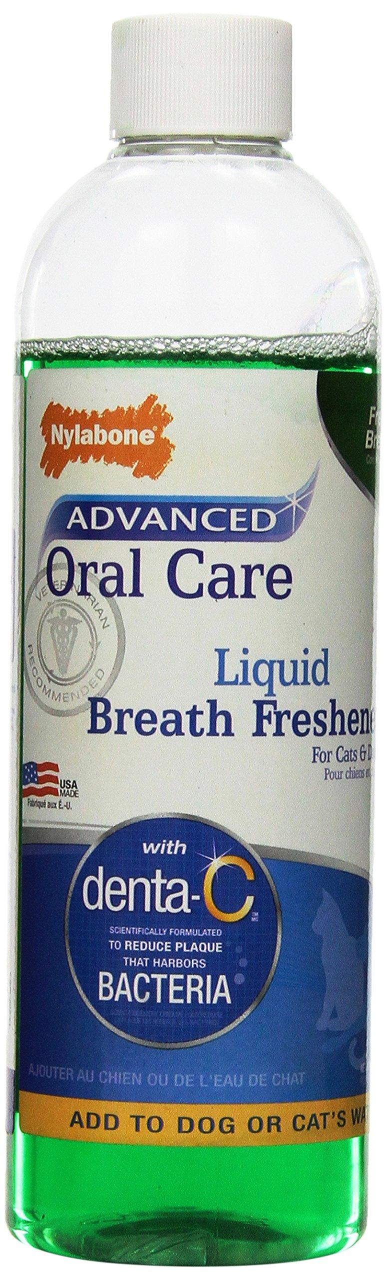 Nylabone Advanced Oral Care Liquid Breath Freshener, 16-Ounce
