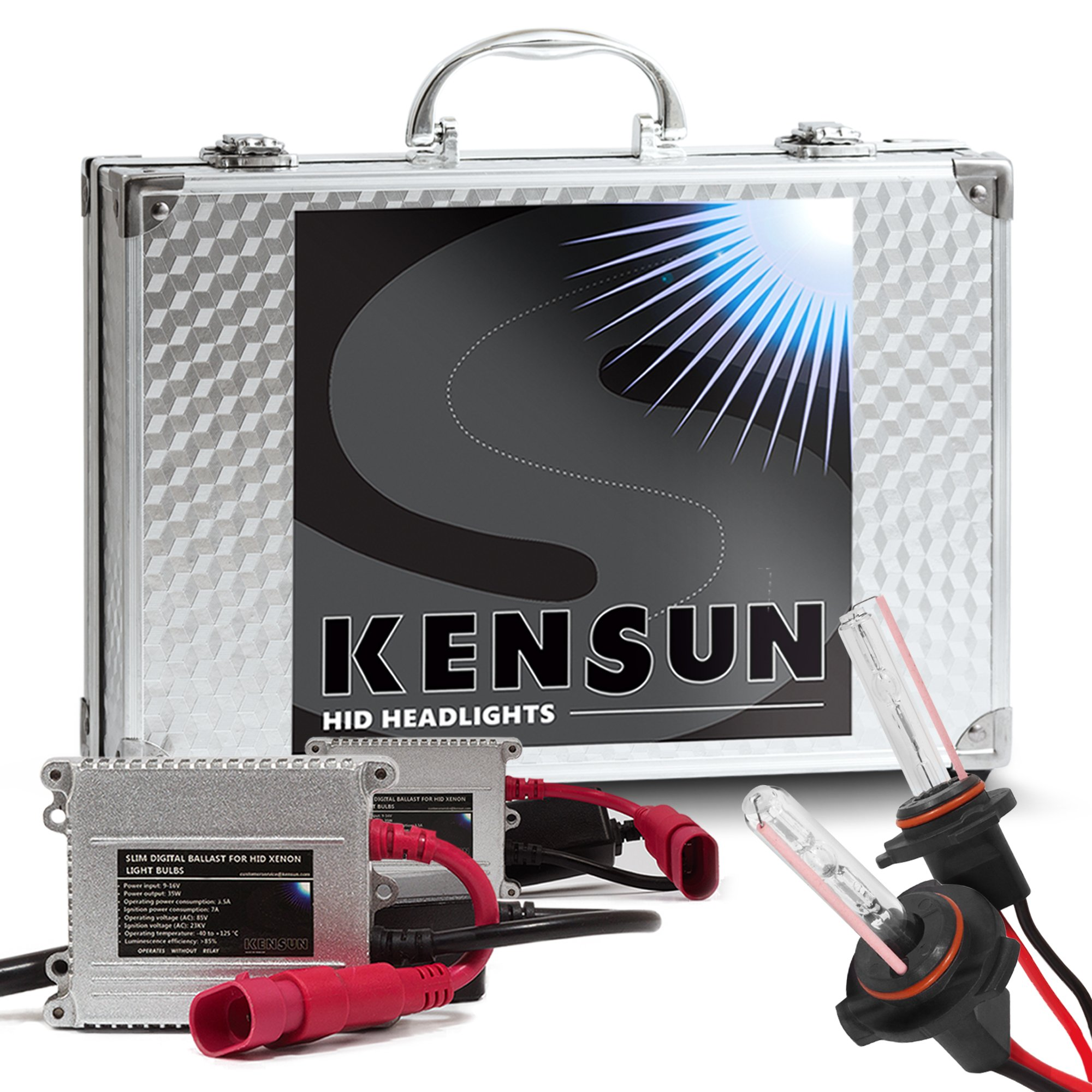 Best Rated In Hid Car Lighting Kits Helpful Customer Reviews Relays As Well 2008 Mazda 3 Fog Lights Headlight Relay Wiring Extra Bright Xenon Conversion Kit By Kensun H10 6000k Product Image