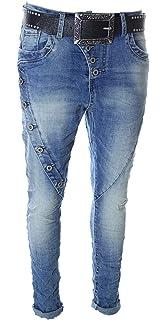 ce867a667385 ZAC   ZOE Boyfriend Damen Jeans Baggy Röhre Stretch Vintage-Used ...