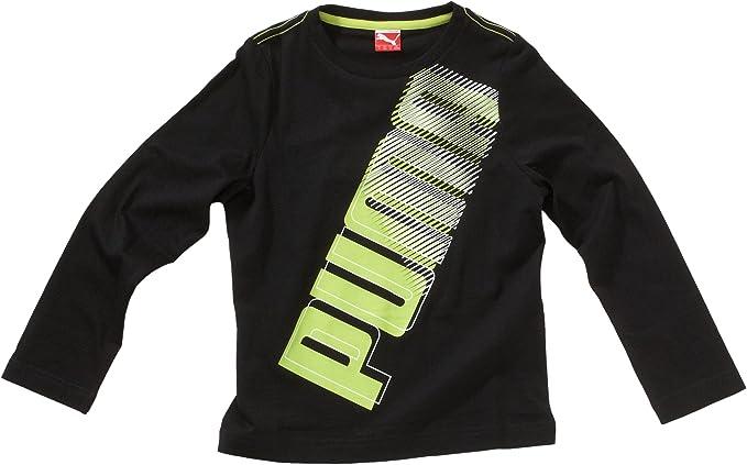 PUMA - Camisa de Acampada y Senderismo Infantil, tamaño 128, Color Negro: Amazon.es: Ropa y accesorios