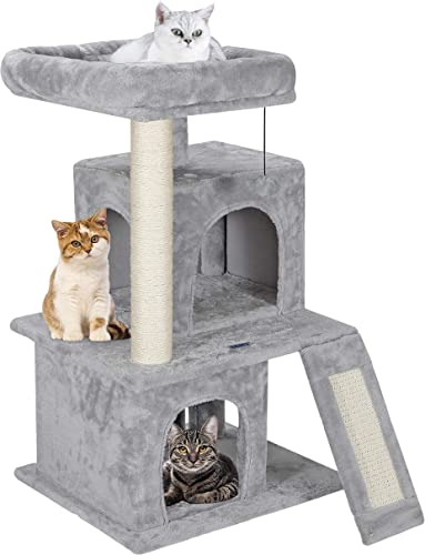 ZENY 33.5 Cat Tree Tower with Scratching Posts – Kittens House Furniture Trees