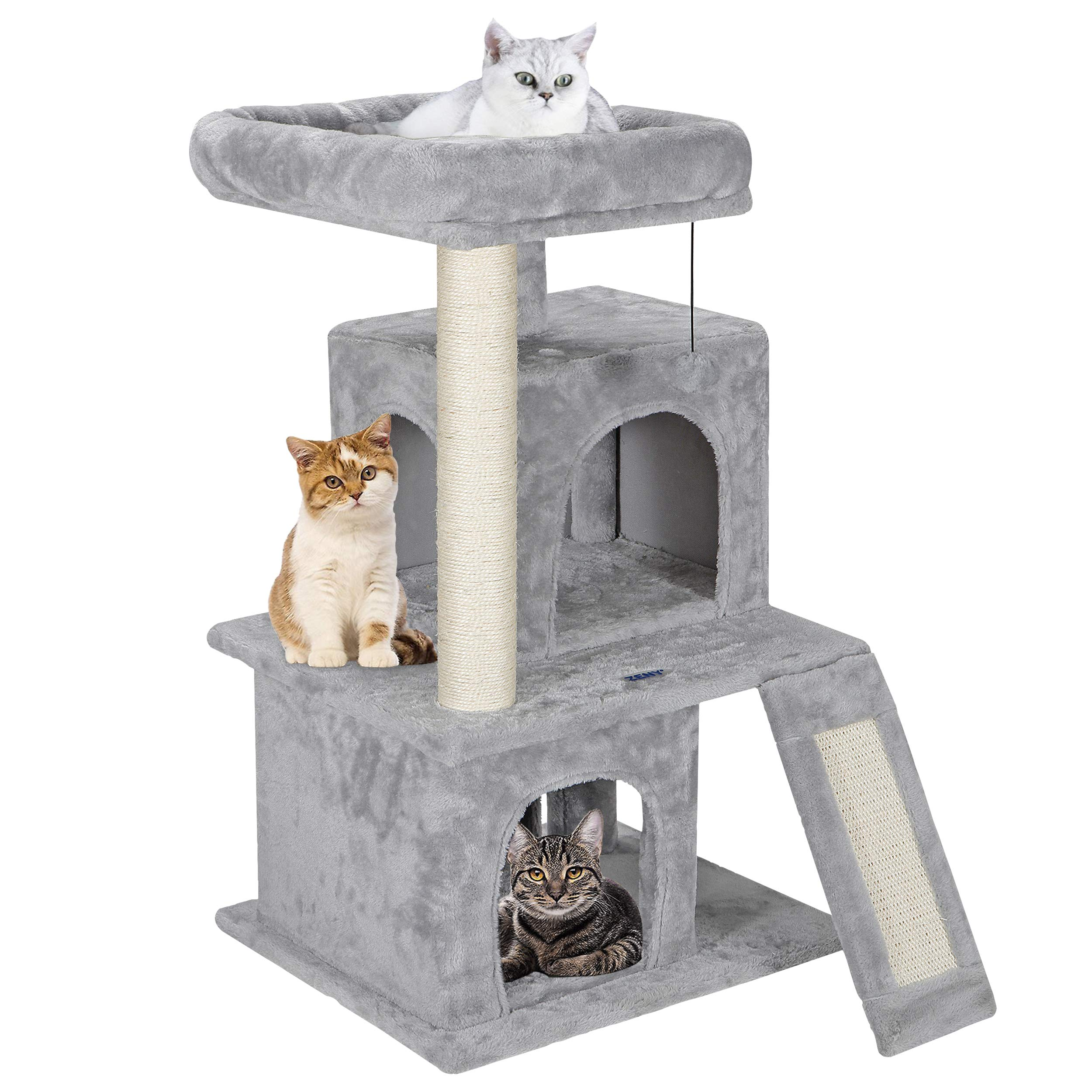 ZENY 33.5'' Cat Tree Tower with Scratching Posts - Kittens House Furniture Trees by ZENY