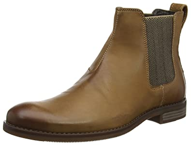Rockport Wynstin Chelsea Leather Slip On Casual Boots Mens