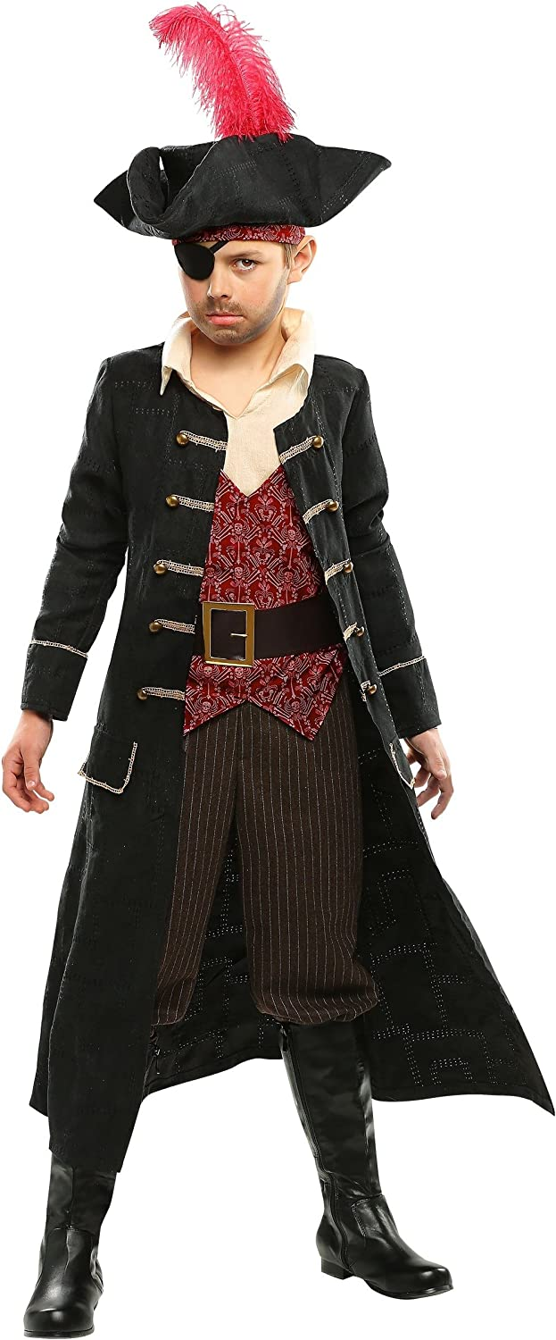Kid's Pirate Captain Costume Ship Captain Costume for Kids