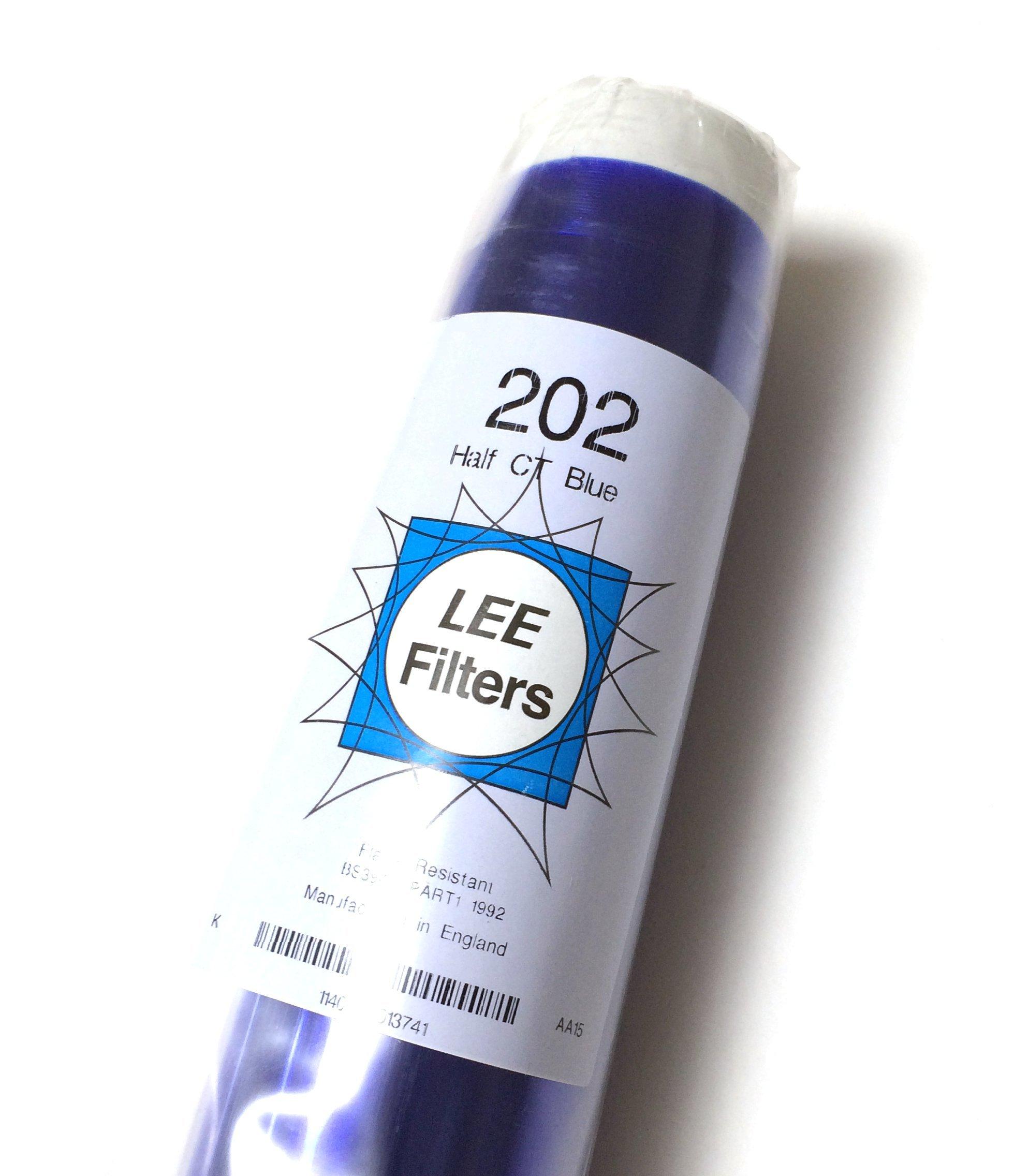 Lee 202 Half Blue 1/2 CTB Gel Filter Roll 4'x25' 202 by Lee