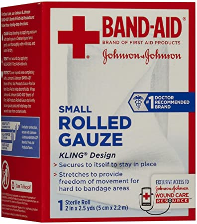 Amazoncom Band Aid Brand Of First Aid Products Rolled Gauze 2
