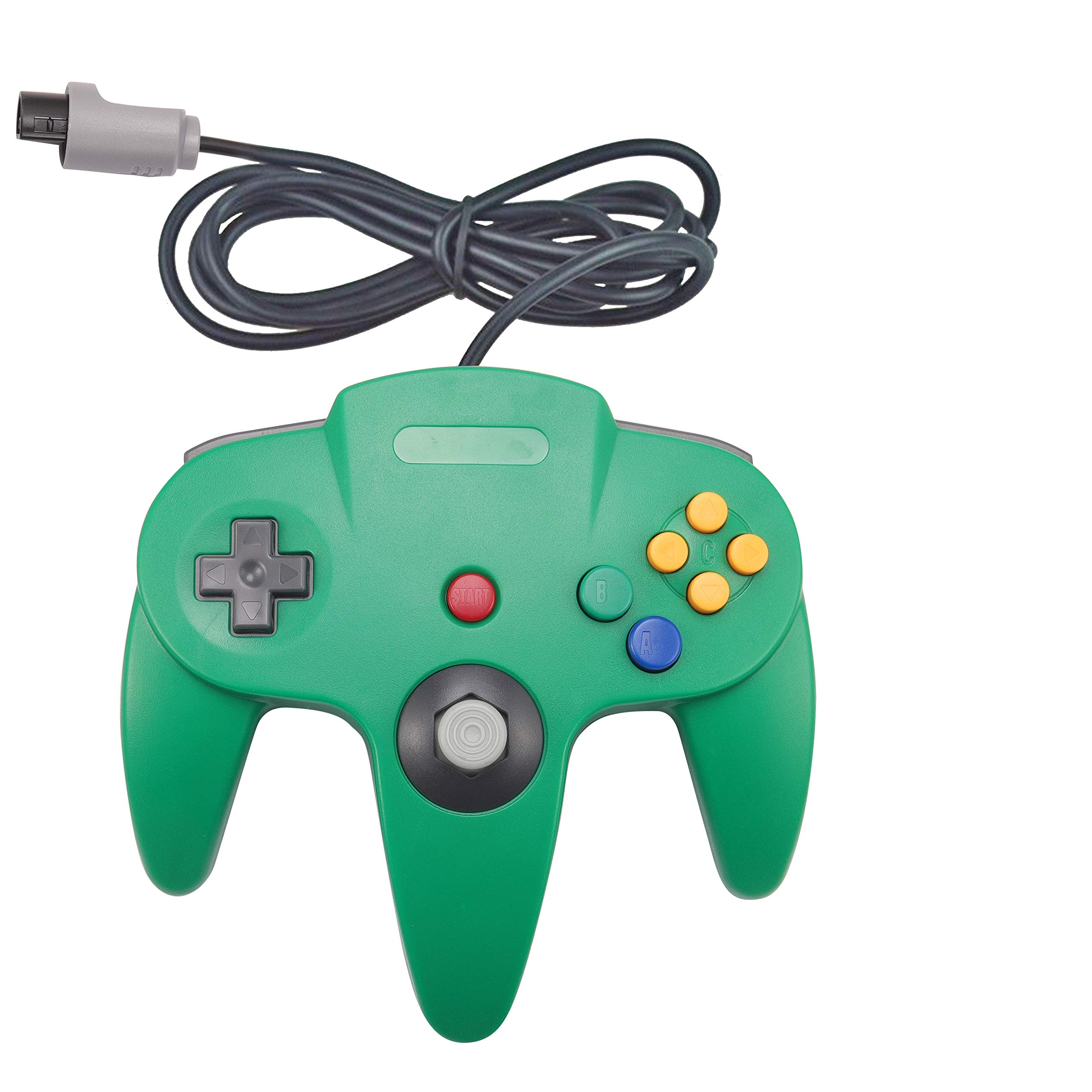 Joxde 1 Pack New Joystick Classic Wired Controller for N64 Gamepad Console (Green)
