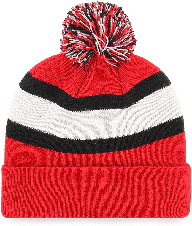 47 Brand Breakaway Fashion Cuff Beanie Hat with POM POM NFL Cuffed Winter Knit Toque Cap