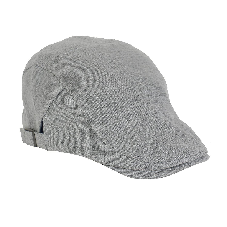 2-TECH Graue Schirmmütze Flatcap Gatsby Herrenmütze Damenmütze Sportmütze Mütze Golfermütze Irish Hunting Herren Damen