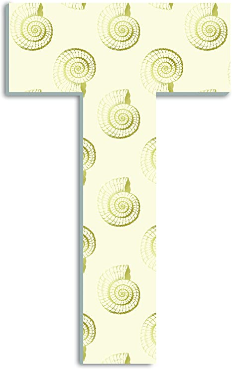 Proudly Made in USA Stupell Home D/écor Ammonite Fossil A 18 Inch Oversized Hanging Initial 12 x 0.5 x 18