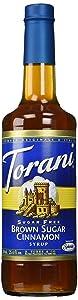 Torani Brown Sugar Cinnamon Syrup Sugar Free 25.4 Fl Oz (Pack of 1)