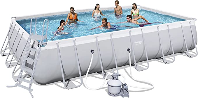 Bestway Best Way - Piscina Power Steel 671 x 366 x 132 cm + depuradora de Arena: Amazon.es: Jardín