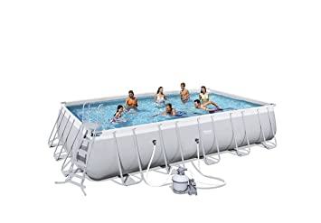 Best Way - Piscina power steel 671 x 366 x 132 cm + depuradora de arena