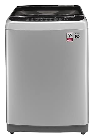 LG 7 kg Fully-Automatic Top Loading Washing Machine (T8077NEDLY, Free Silver and Burgundy) Washing Machines & Dryers at amazon