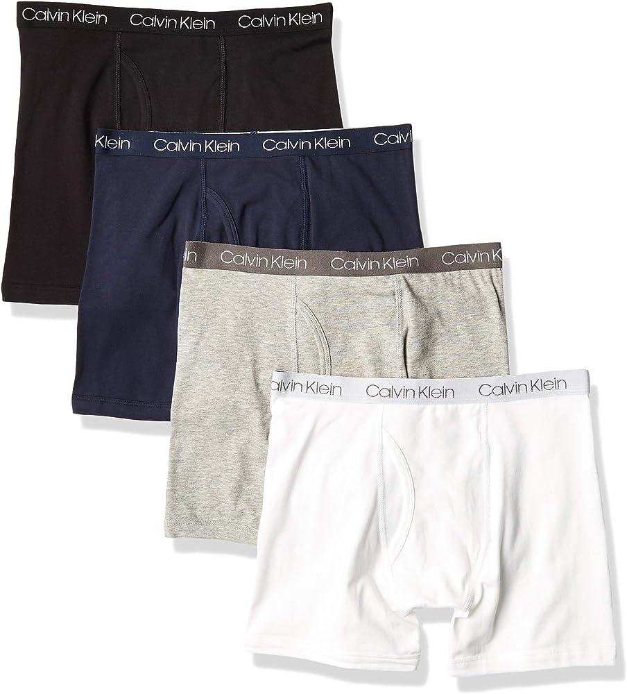 Calvin Klein - Calzoncillos tipo bóxer de algodón variado para niños - - Medium: Amazon.es: Ropa y accesorios