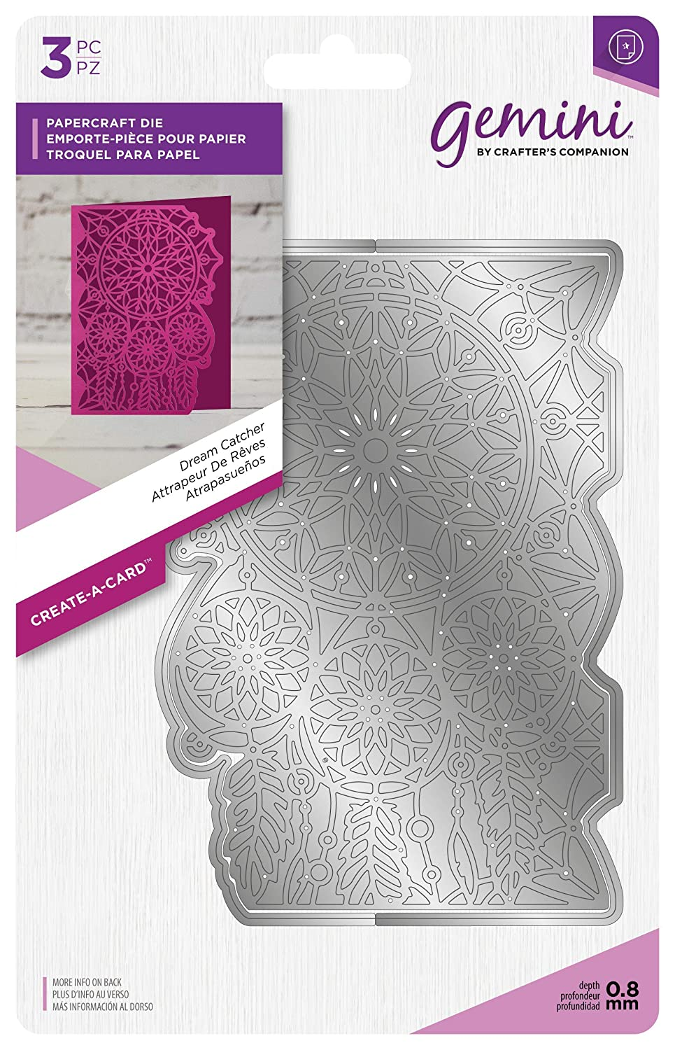 Gemini Die-Create a Card-Dream Catcher, Silver, Various Crafter' s Companion GEM-MD-CAD-DC