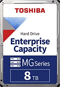 Toshiba MG Series Enterprise 8TB 3.5'' SATA 6Gbit/s Internal HDD 7200RPM 550TB/year 24/7 Operation. MG05ACA800E