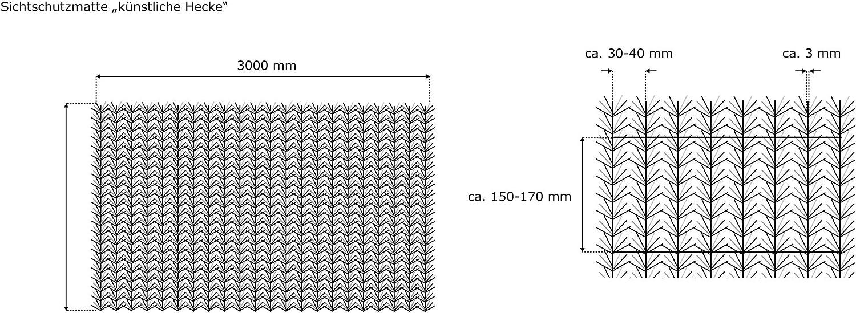 Brise Vue jarolift Canisse Haie Artificielle 1 x 3m
