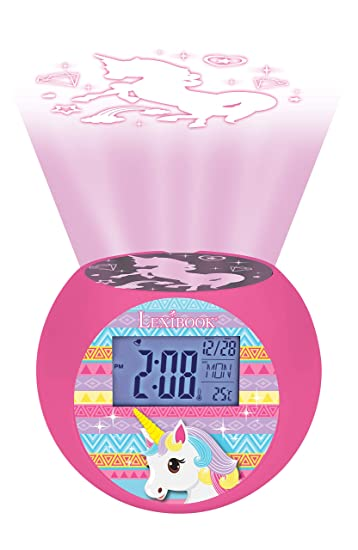Amazon.com: LEXiBOOK RL975UNI Unicorn - Reloj despertador ...