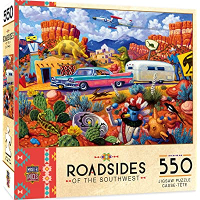 MasterPieces Roadsides of The Southwest Jigsaw Puzzle, Off The Beaten Path, Featuring Art by Steven Morath, 550 Pieces: Toys & Games