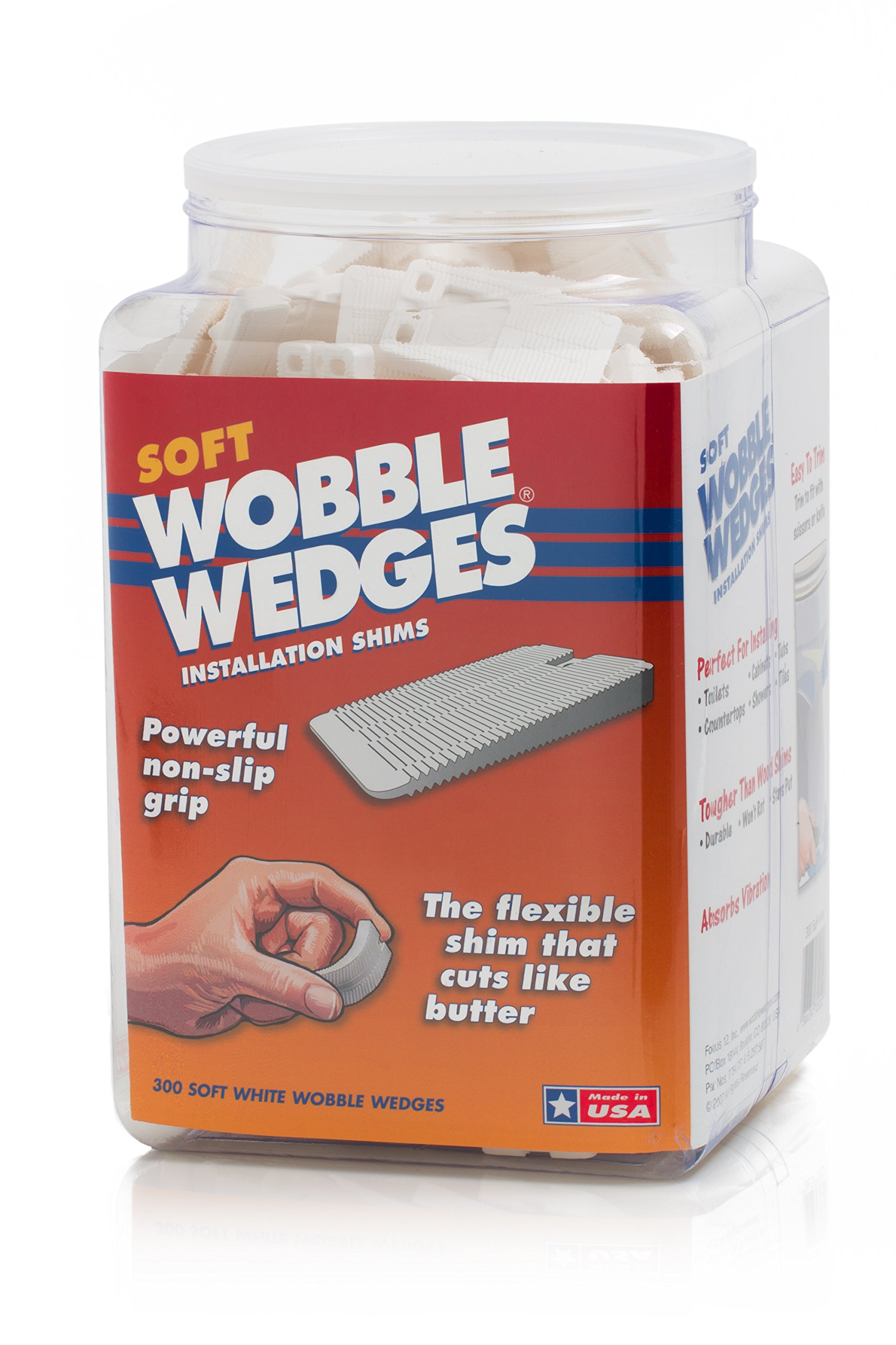 Wobble Wedges Multi-Purpose Shims-Soft White 300 ea -Easy Trim -Protect Delicate Surfaces -Level Household Furniture and Plumbing Fixtures -Stop rattling pipes -Use as Clamping Pad on Angled Surface