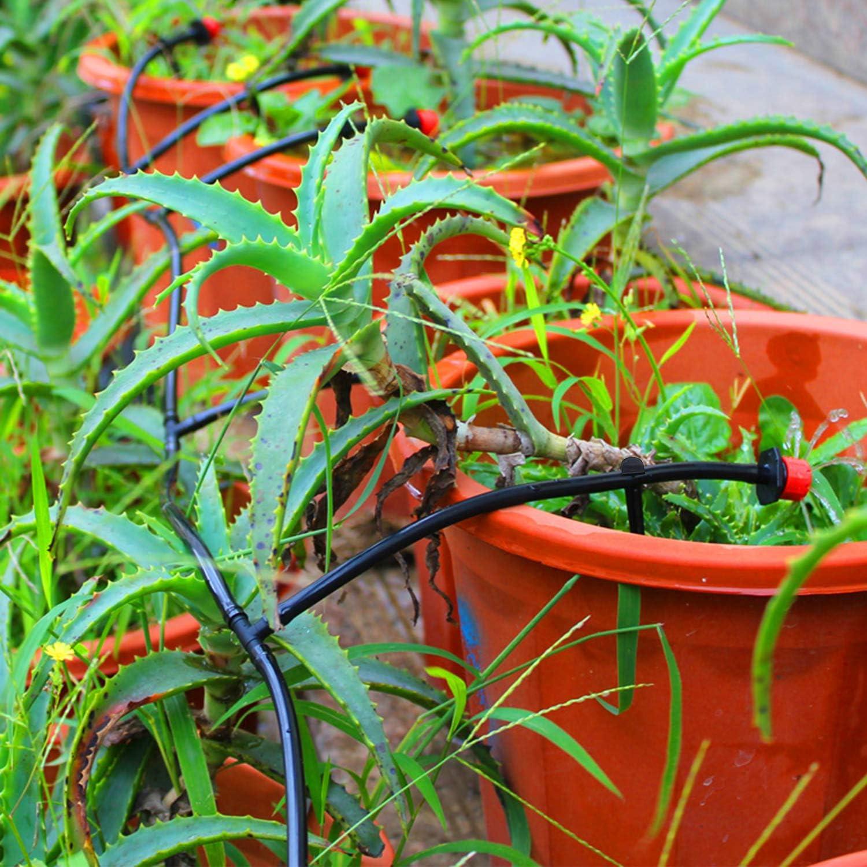 LUTER 50 Pezzi Irrigazione Picchetti di Sostegno in Plastica per Linee di Gocciolamento da 1//4 Tubo Flessibile per Giardini Fiori Piante Verdura