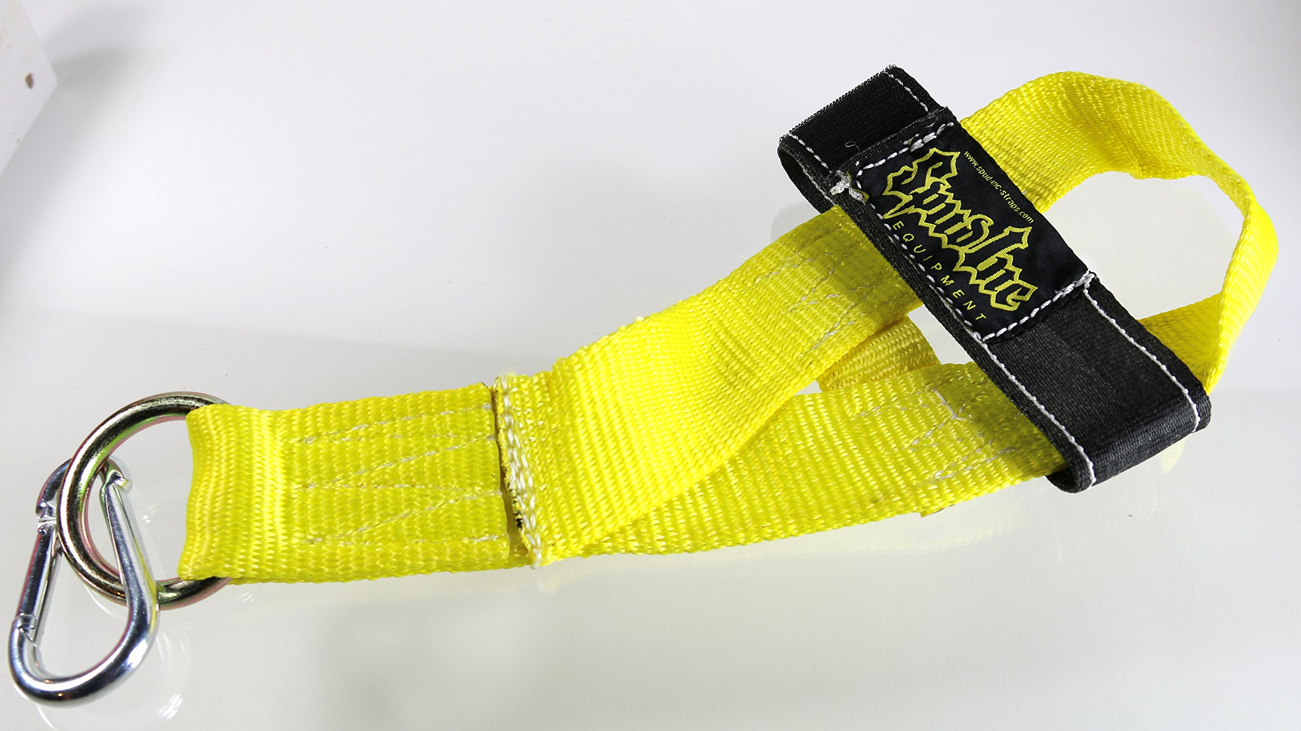 Spud Hamstinger Deluxe for Isolation Hamstring Curls - Use With Cable Machine, Bands or Chains (YELLOW)