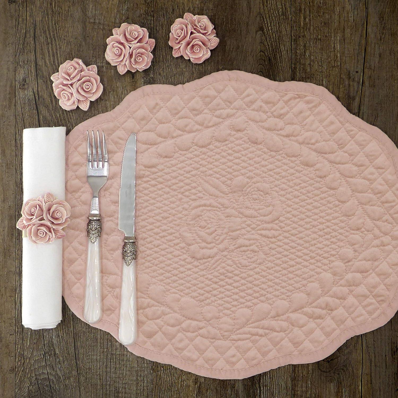Set de Table Boutis Napperon en tissu Boutis Shabby Chic et Romantique Bouti