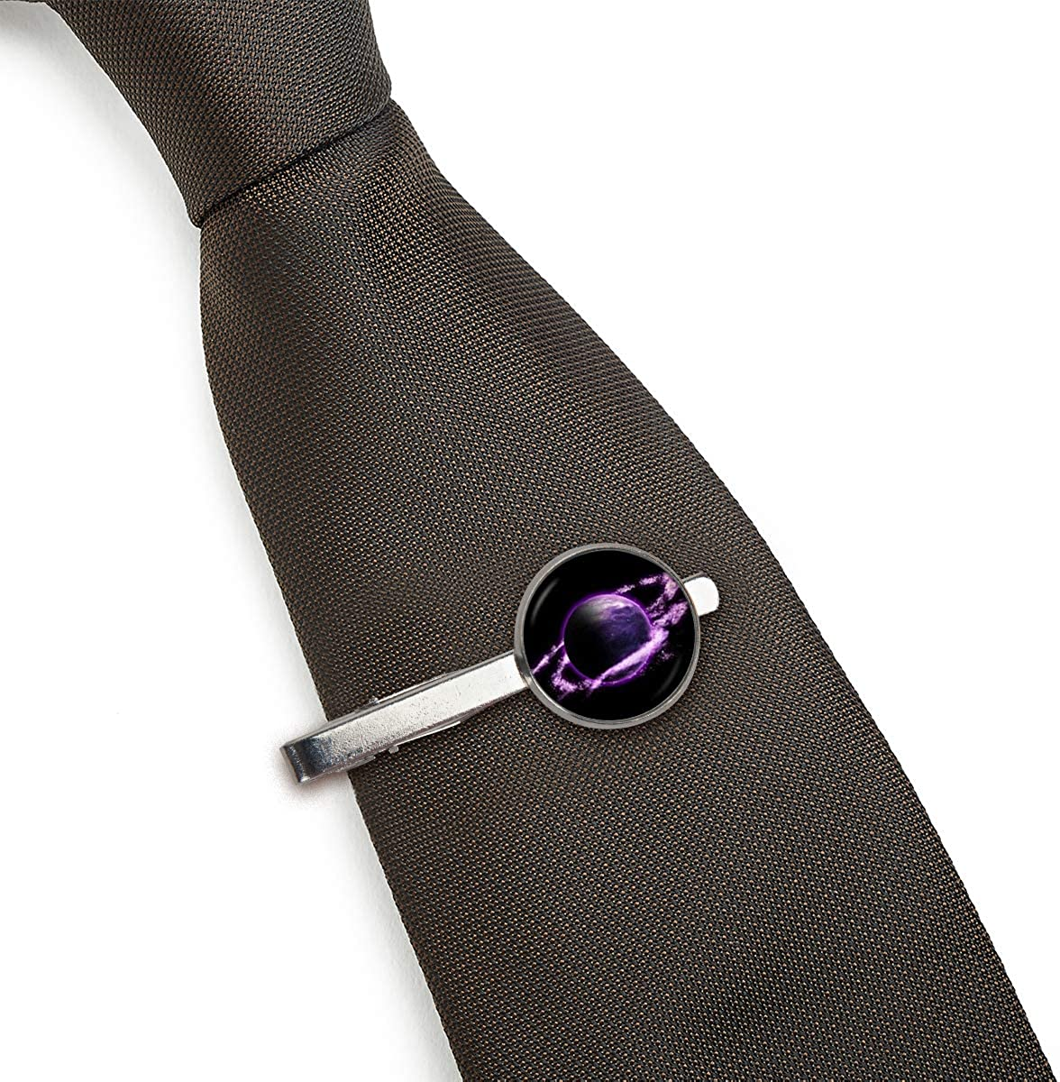 LooPoP Men Tie Clip Fashion Planet Stainless Tie Pins for Business Wedding Shirts Tie Clips Include Gift Box