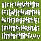 人形 人物 人々 人間 人間フィギュア 未塗装 情景コレクション ザ ・ 鉄道模型・ジオラマ・建築模型・電車模型に 35㎜ スケール:1/50 100個セット