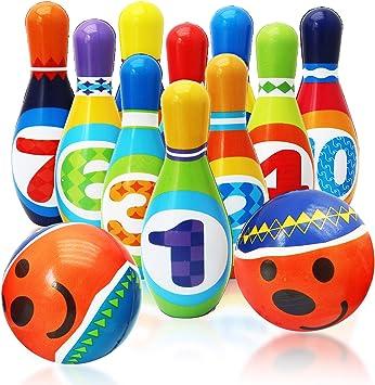 Twiddlers Juego de Bolos Suave para Niños - Bowling Set Incluye 10 ...