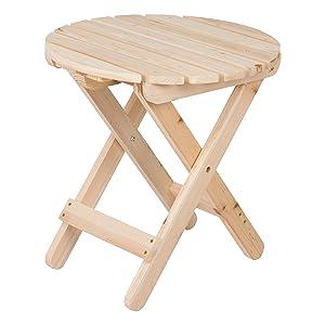 Shine Company 4108N Adirondack Round Folding Table, Natural