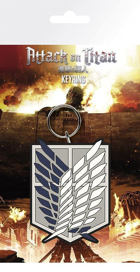 GB Eye LTD, Attack on Titan Season 2, Badge, Llavero: Amazon ...