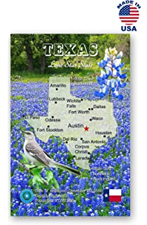 Amazon greetings from texas postcard set of 20 identical texas map postcard set of 20 identical postcards tx state map post cards made m4hsunfo