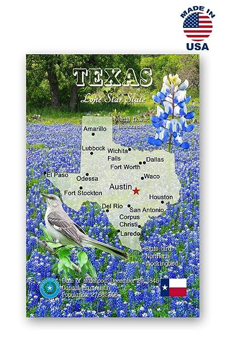 Amazon Com Texas Map Postcard Set Of 20 Identical Postcards Tx