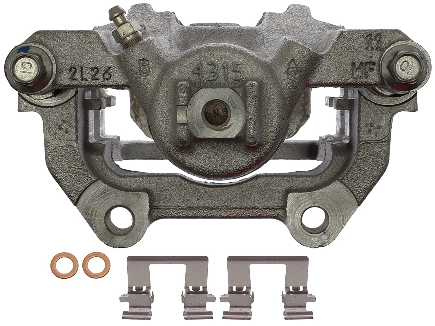 Friction Ready Non-Coated Remanufactured ACDelco 18FR12519 Professional Front Disc Brake Caliper Assembly without Pads