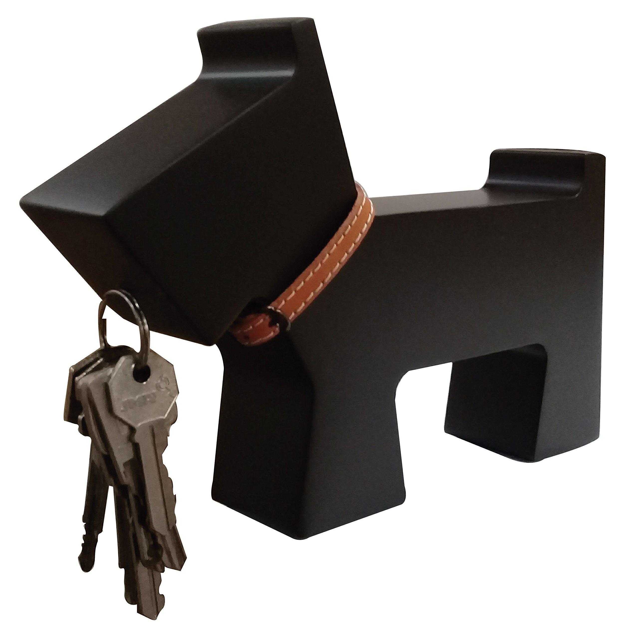 Wood boy! Scottish terrier dog magnetic key holder and hook