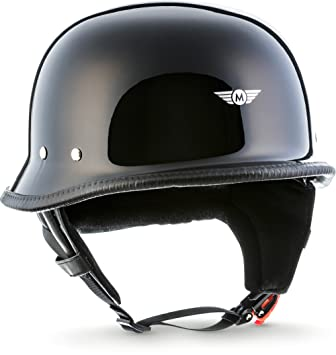 "Casco de moto retro · D33 ""Black"" (negro) · Casco jet"
