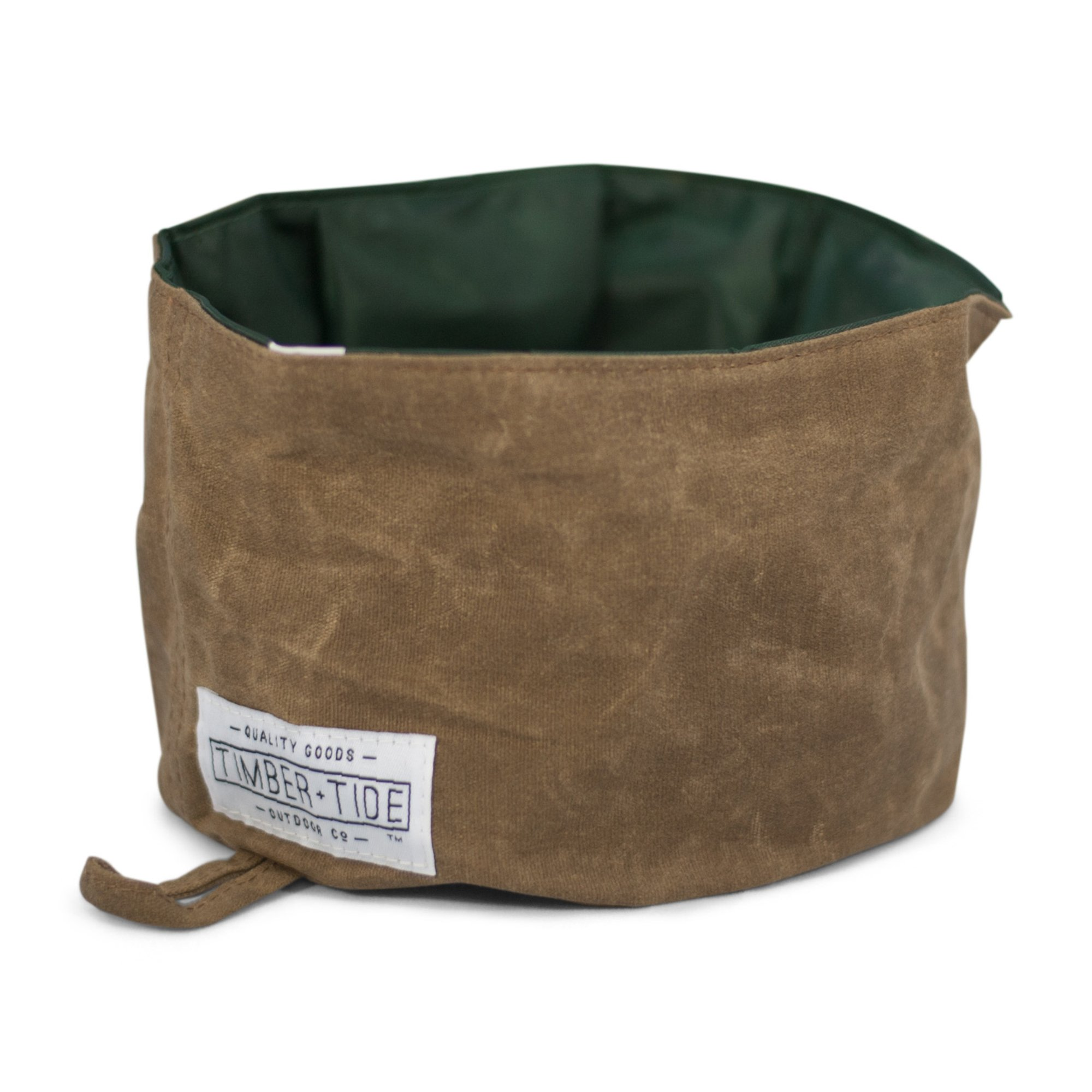 Collapsible Dog Bowl - Rugged Heavy Duty Canvas Travel Bowl with Waterproof Interior for Water or Dry Food - Foldable and Packable
