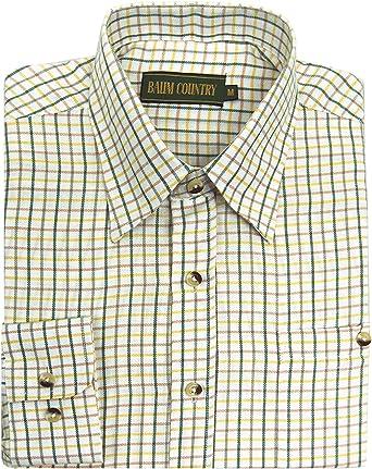 Camisa de cuadros de hombre, para caza, pesca, tiro, Hombre, color crema, tamaño XX-Large: Amazon.es: Ropa y accesorios