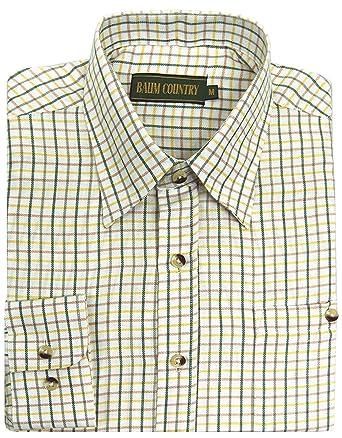 6e0b282b Mens Lanark Country Check Tattersall Shirt | Hunting | Fishing | Shooting:  Amazon.co.uk: Clothing