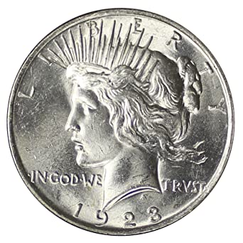 1923 Silver Peace Dollar Brilliant Uncirculated