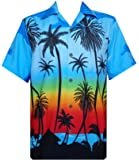 Hawaiian Shirt Mens Allover Coconut Tree Print Beach Aloha Party
