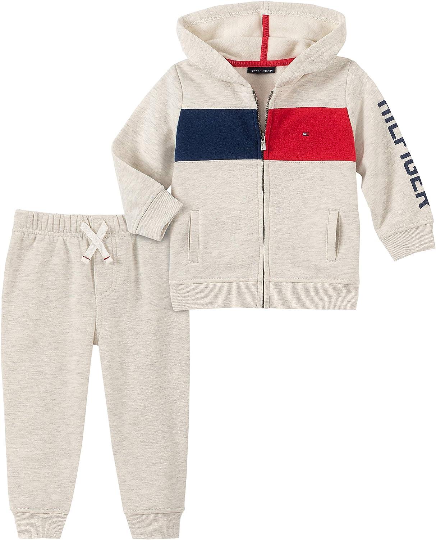 Tommy Hilfiger Baby-Boys 2 Pieces Hooded Jog Set Pants Set